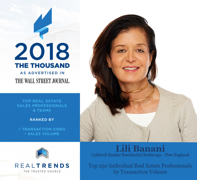 Lili Banani - Wall Street Journal Top 250 Real Estate Professionals by Transaction Volume